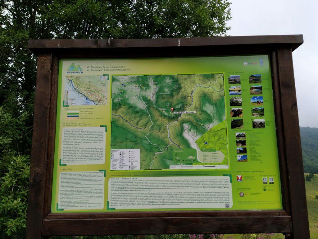 tabla sa informacijama o Zelengori