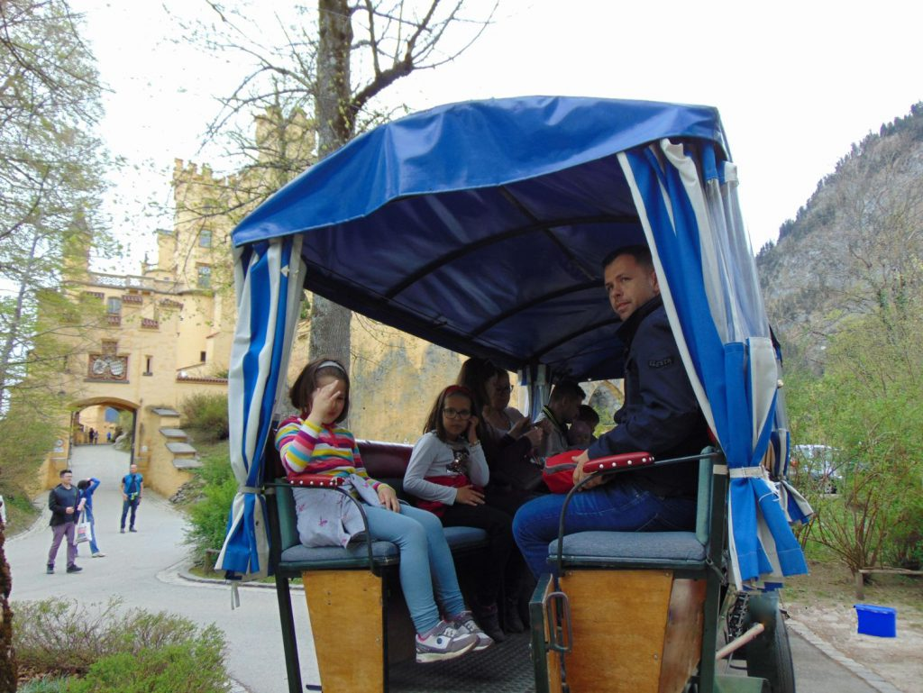 Kocija za prevoz do dvorca Neuschwanstein